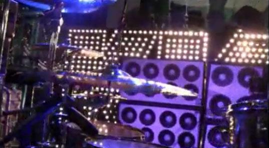 Bakom scen hos Letterman show